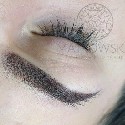 Makijaż permanentny brwi po zabiegu